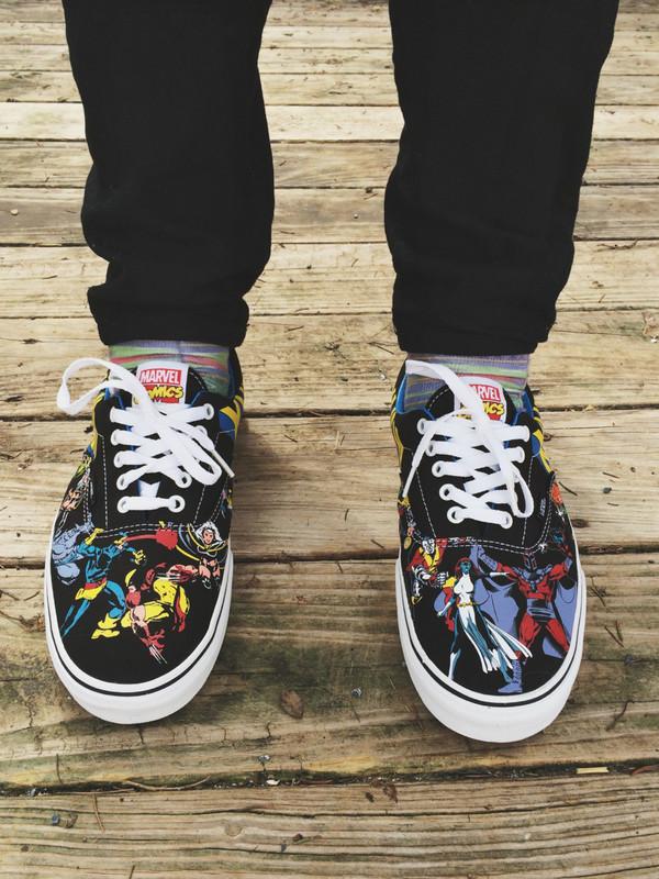 Vans Xmen X Men Marvel Comics Era Lo Skate Shoe Sneaker