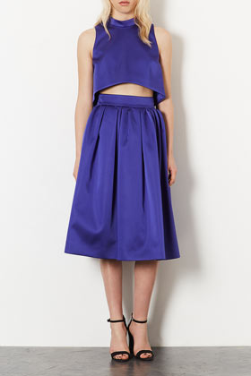 **LIMITED EDITION High Neck Crop and Midi Skirt Co-ord - Suits and Co-ords  - Clothing  - Topshop USA