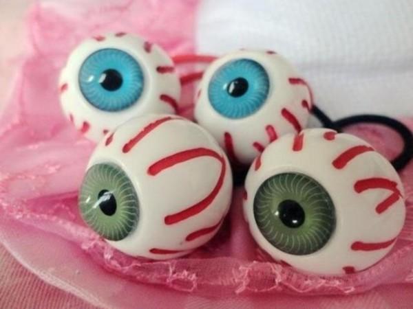 jewels eyeball hair tie pastel goth creepy halloween kreepsville goth punk alternative