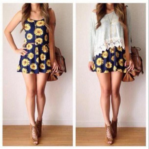 dress sunflower blouse