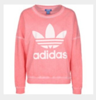 sweater adidas pink white pink and white