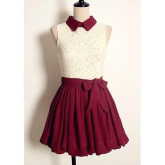 dress collared dress collar bow red white burgendy daydress day cute vintage collardress high waisted dress floral short dress lace dress day dress burgundy burgundy dress colar neck hipster indie girly skirt burgundy skirt cute dress tea dress kfashion ulzzang wine dress white lace dress now bow dress red dress maroon/burgundy white dress red and white dress summer