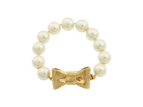 Kate Spade New York All Wrapped Up Pearl Bracelet Cream/Gold - Zappos Couture