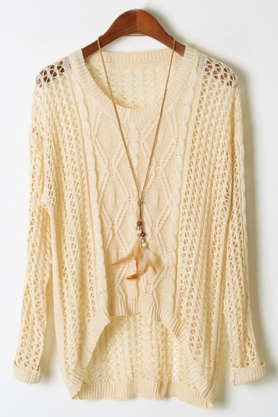 Cutout High-low Sweater - OASAP.com