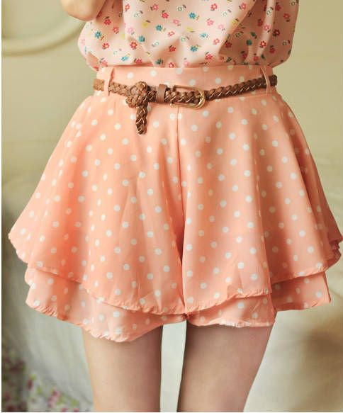 Dianice Cute Chiffon Ruffle Polka Dots Woman Skirt - DinoDirect.com