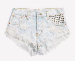 Malibu Studded Clouded Babe Shorts | RUNWAYDREAMZ