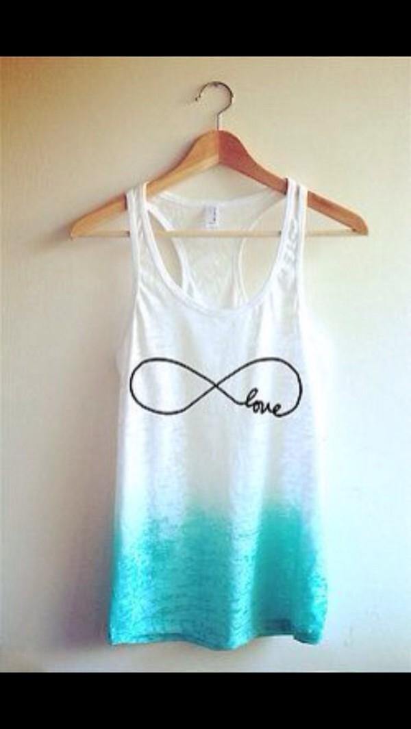 shirt infinity infinity love blue shirt cute
