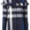 Burberry checked shirt, women's, size: 10, blue, cotton