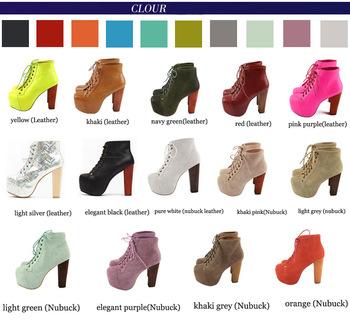 19 Colours !Jeffrey Campbell 100% Women's  Genuine Leather Lita Boots 2014  Fashion High Heel Platform Pumps shoes big plus size-inBoots from Shoes on Aliexpress.com