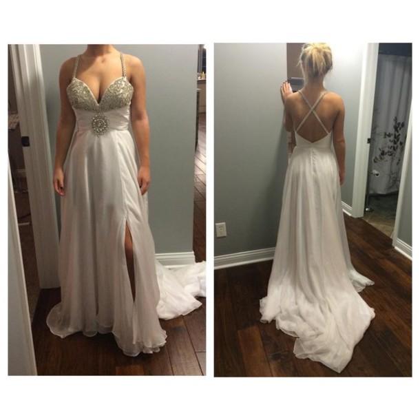 dress white dress beautiful