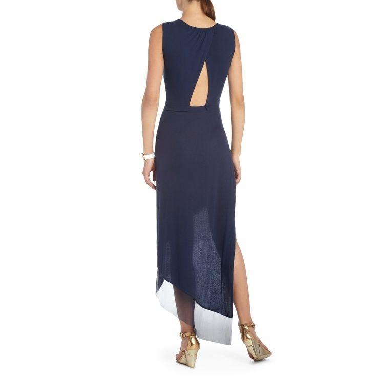 New BCBG Maxazriaalisanne Essential Knit Open Back Dress L | eBay