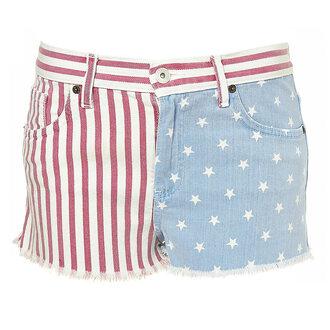 shorts denim american flag flag cut offs