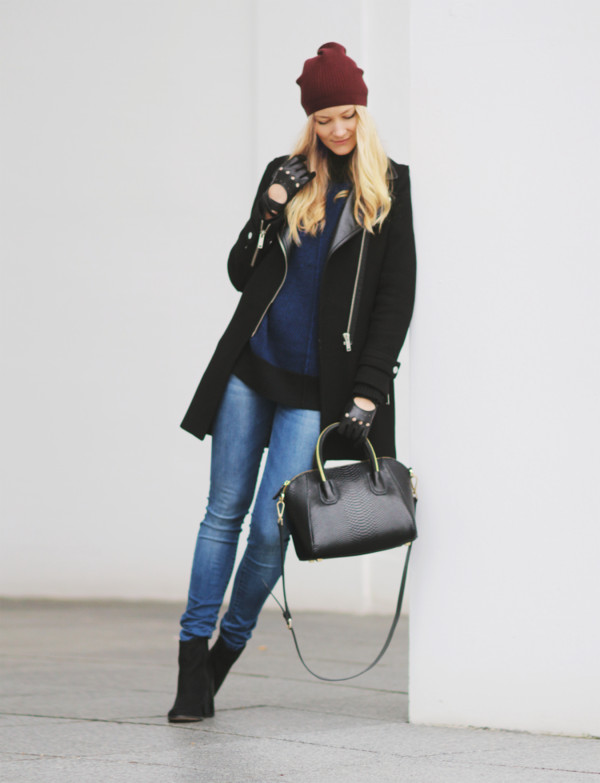 passions for fashion coat sweater jeans shoes bag hat
