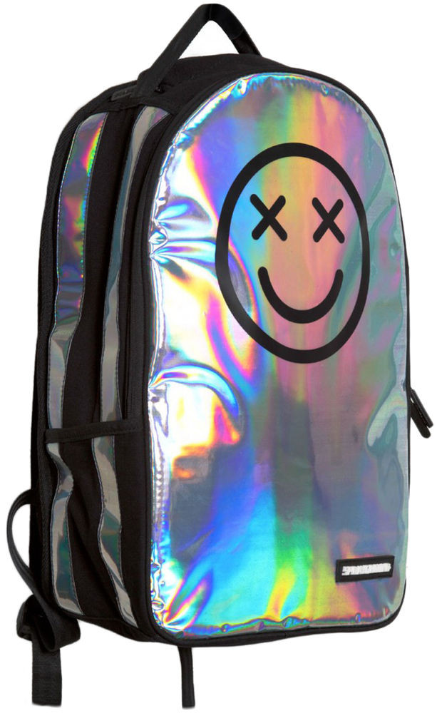 Sprayground Happy Daze Smiley Trippy Holographic Deluxe Backpack Streetwear Bag | eBay