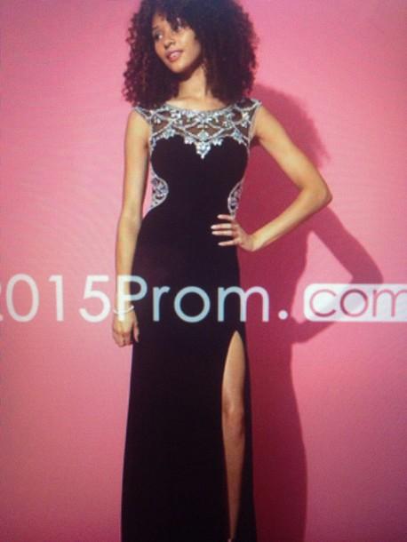 dress black prom dress beaded prom dress prom dress