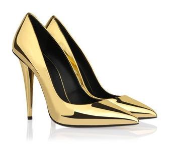 Gold pumps - Juicy Wardrobe