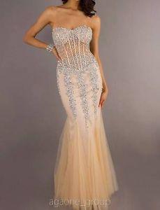 JOVANI Evening Dress 5908 Lowest Price GUARANTEE 00 0 2 4 6 8 10 12 14 Nude   eBay