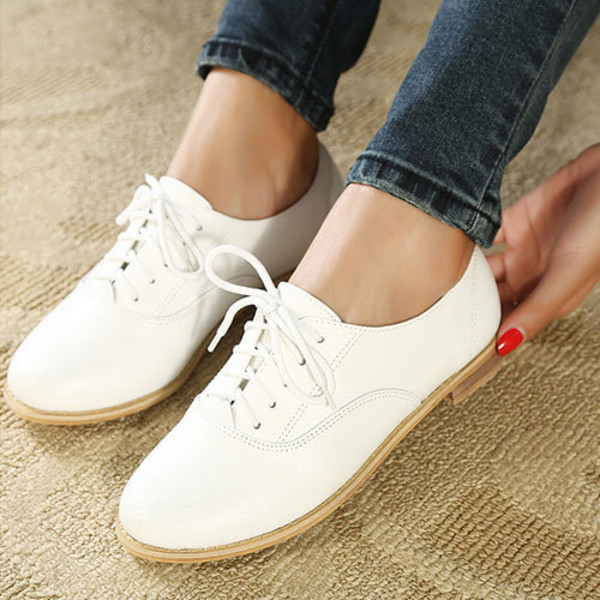 shoes shoes flat leisure white