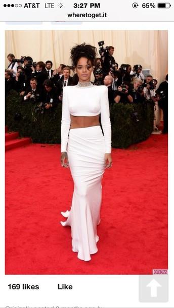 dress dress all white rhiannaa