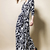 3/4 Sleeve Notch Lapel Print Maxi Vintage Dress : KissChic.com