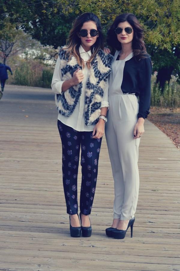 the sams shoes pants jacket sunglasses