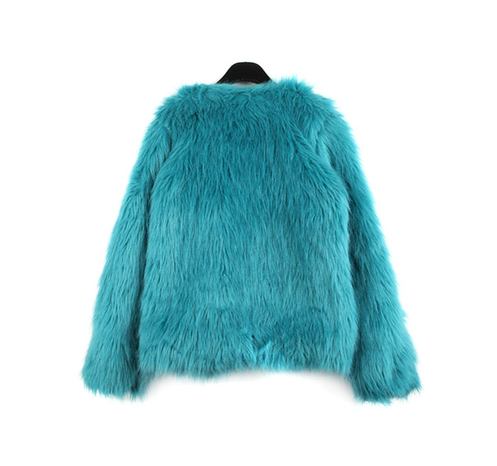 Wholesale Fur Solid Color Long Sleeves Simple Style Coat For Women (BLACK,ONE SIZE), Jackets & Coats - Rosewholesale.com