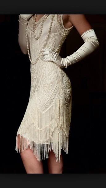 dress 30s style vintage white dress
