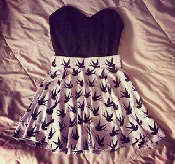 blouse little black dress skirt