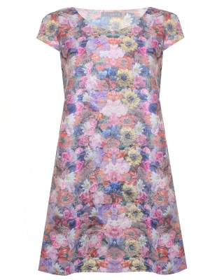 LOVE Lurex Floral Shift Dress - In Love With Fashion