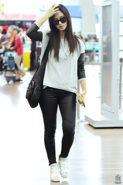 shirt yuri girls generation kpop southkorea pants shoes