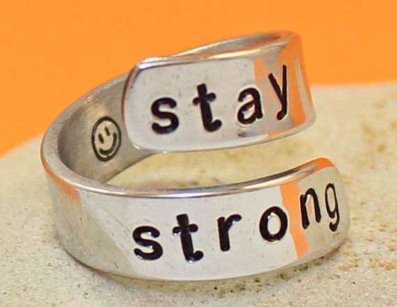 Stay STrong Ring  Inspire  Personalized Ring  by keepWEARME