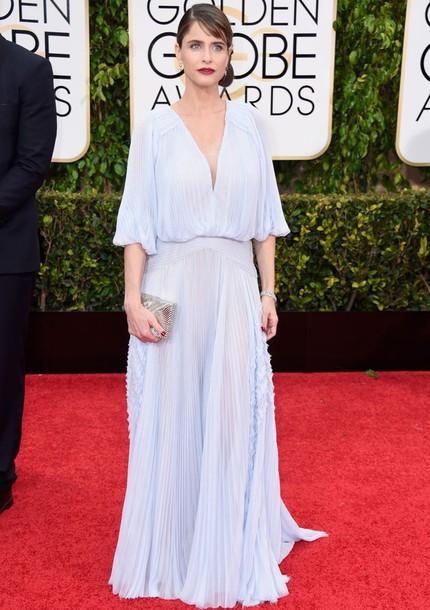 dress amanda peet Golden Globes 2015