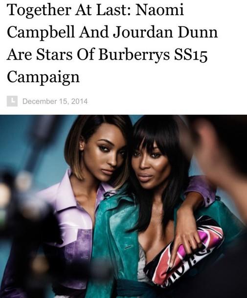 coat naomi campbell jourdan dunn model burberry chicityfashion luxury