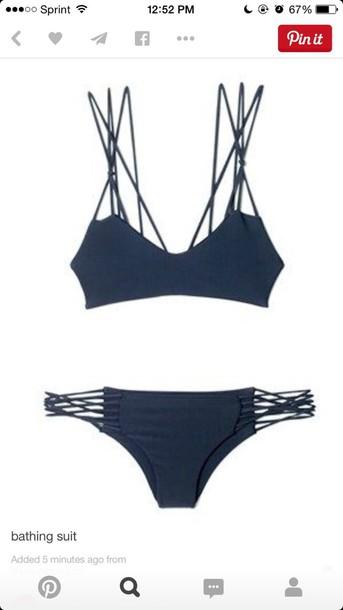 swimwear navy