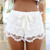 Milla Crochet Shorts - White | SABO SKIRT