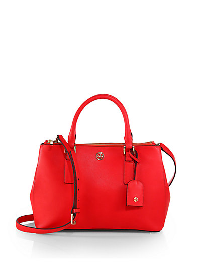 Tory Burch - Robinson Small Double Zip Tote - Saks.com