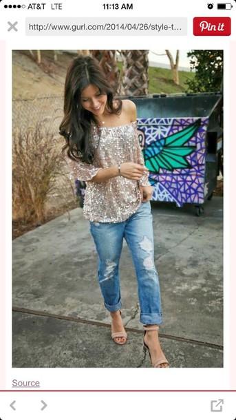 shirt glitery sparkle