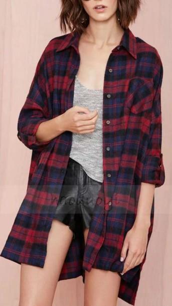 shirt tartan loose