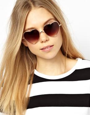 AJ Morgan | AJ Morgan Heart of Glass Sunglasses at ASOS