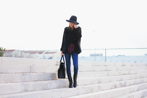 miss tangerine jacket shirt jeans shoes bag hat jewels