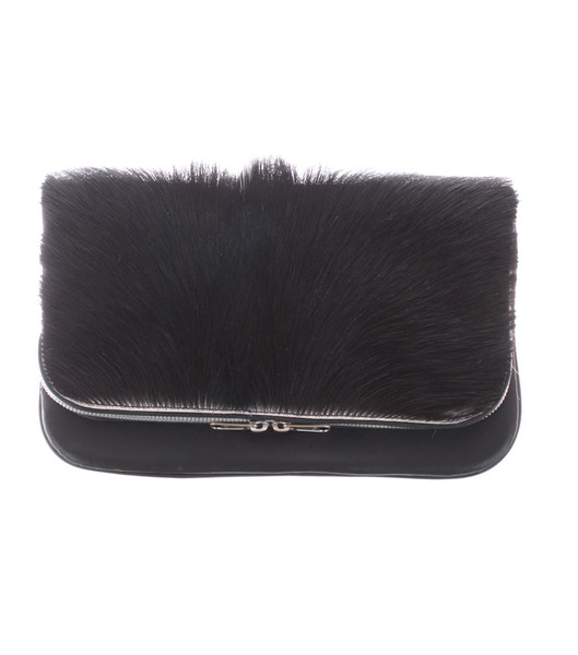 HOWL AND HORN FOLD OVER CLUTCH / BLACK AND WHITE                           | HOWL & HORN