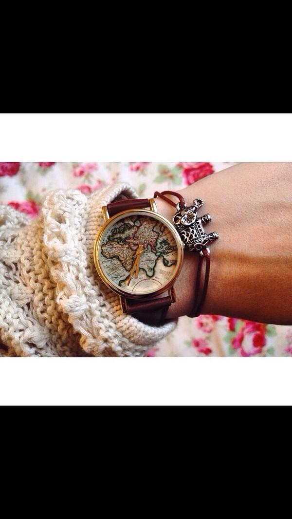 jewels worldmap watch watch watches for women watch watch bracelets ring perfume quirky metal