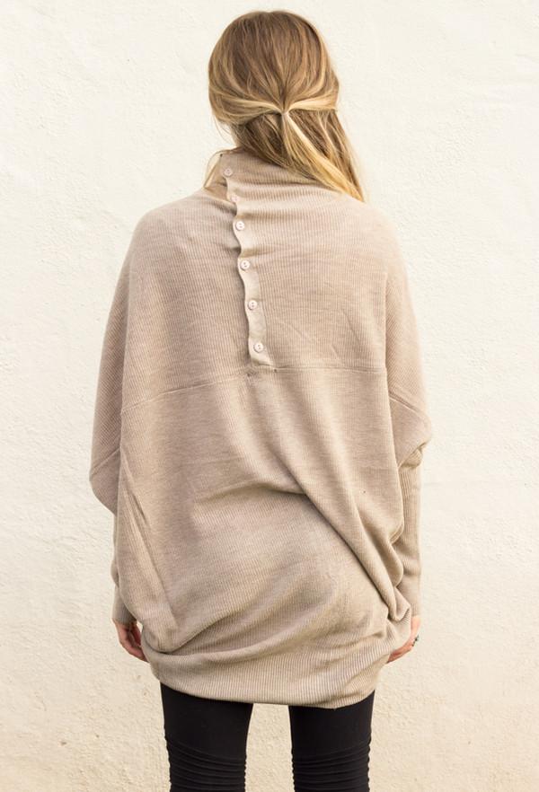sweater long sleeves top shirt knotwear knit kimono