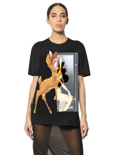 New Givenchy Bambi Tee T Shirt Short Sleeve Black Cotton Oversized M   eBay