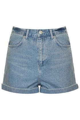 MOTO Bright Blue Mom Shorts - Denim Shorts - Shorts - Clothing- Topshop USA