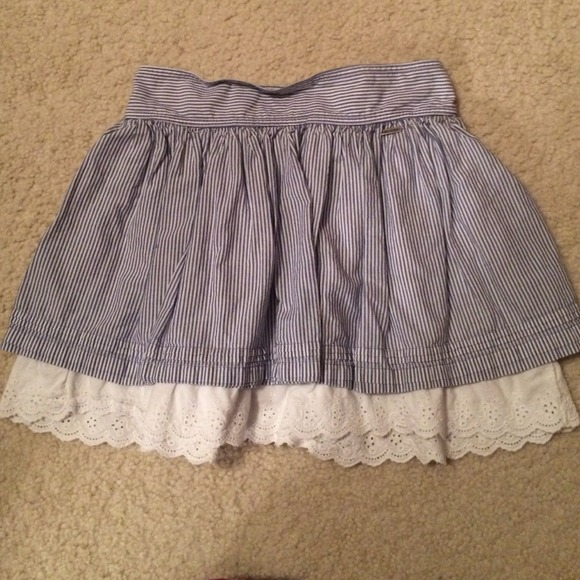 Hollister - Blue and white thin stripe hollister skirt size S from Cayce's closet on Poshmark