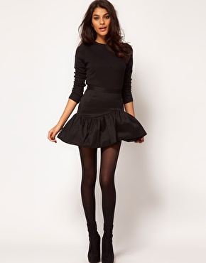 ASOS   ASOS Mini Skirt With Ruffle Hem at ASOS