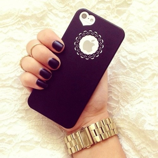 jewels iphone cover cute heart iphone 5 case black cover iphone case apple