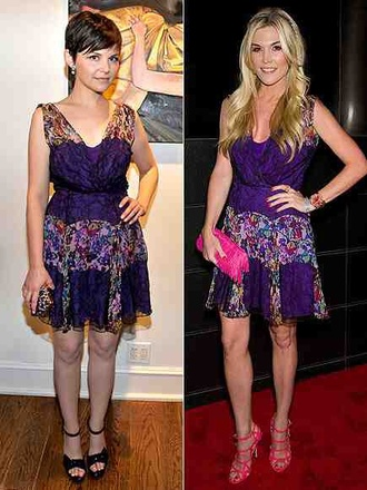 dress ginnifer goodwin cute dress spring colorful dress pretty lace floral
