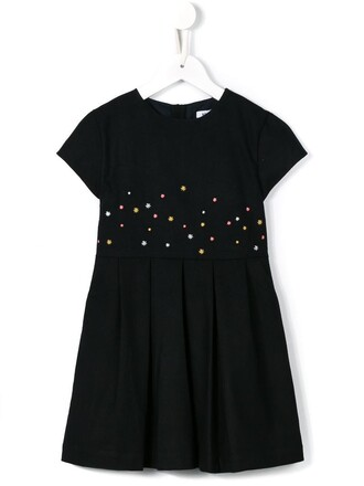 dress girl embroidered toddler classic blue